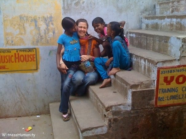 Hanging out in Varanasi with some very good friends. Years later we would return and find these girls doing well, going to school, and living in a new house with their parents.