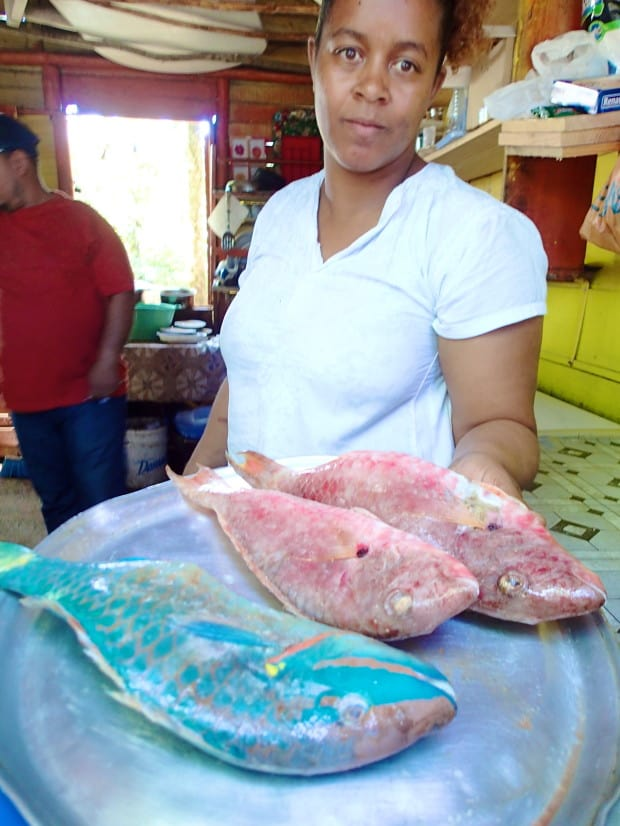 Order fish for lunch and you will often be given the option of choosing the exact fish you would liked cooked for you.