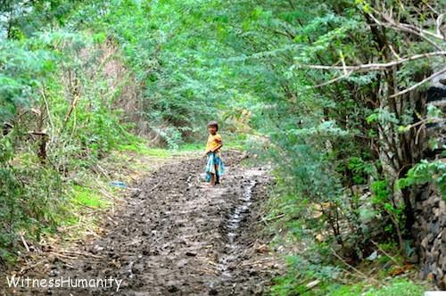 Girl on a path